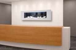Akwarium Ścienne 142x48x10 cm LED wysoki połysk