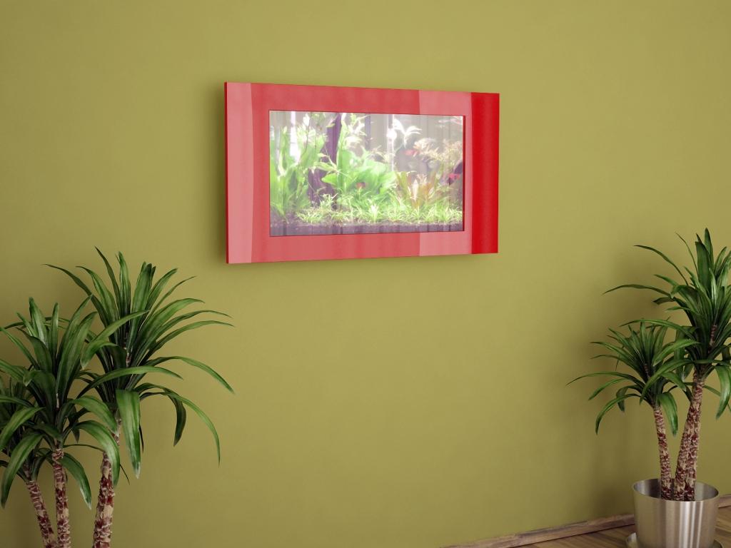 Akwarium 100x55cm czerwone