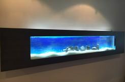 Akwarium Ścienne Wiszące 195x40x16cm, LED pojemność 63l