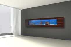 Akwarium Ścienne Wiszące 275x42x15cm, LED pojemność 99l