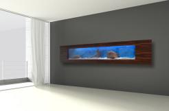 Akwarium Ścienne Wiszące 250x40x16cm LED, 80 litrów
